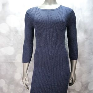 NWOT New York and Company Metallic Sweater Dress